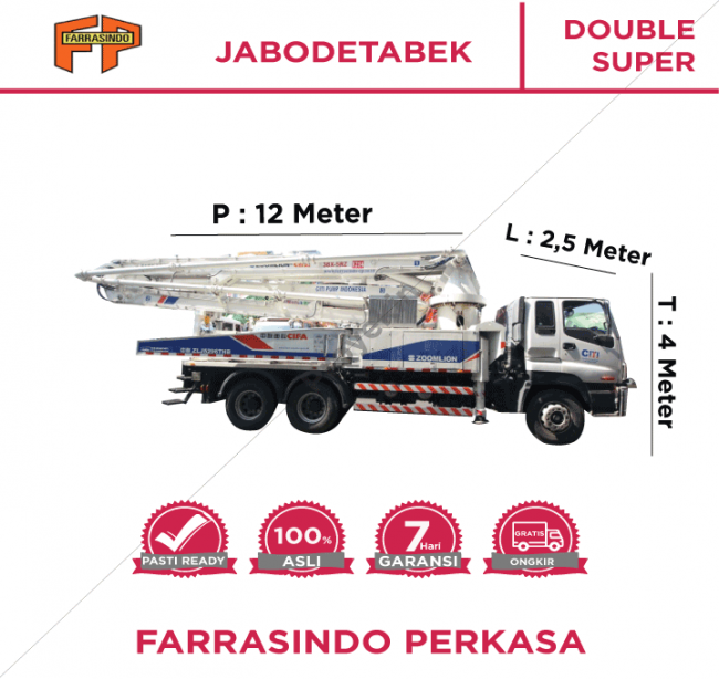 Farrasindo Pompa Beton Double Super Vol 76-100 M3