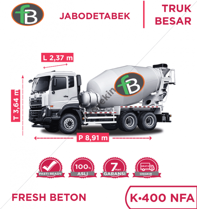 Readymix Fresh Beton K225 NFA